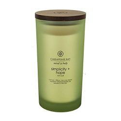 Chesapeake Bay Candle Mind & Body Large Scented Candle, Simplicity + Hope (Mint Basil)
