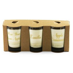 Luna Candle Co. Happy Fall – Apple Cinnamon and Vanilla Scented Luxurious Candles –  ...