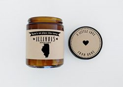 Illinois Scented Candle Missing Home Homesick Gift Moving Gift New Home Gift No Place Like Home  ...