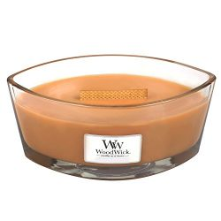 Hot Toddy WoodWick New Collection HearthWick Flame Large Oval Jar Scented Candle – 16 Ounces