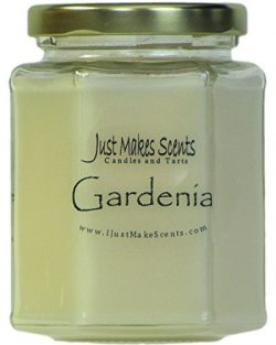 Just Makes Scents Gardenia Scented Blended Soy Candle | Long Lasting Spring Floral Fragrance | H ...