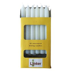 18 Pack Taper Candles – 8 Inch Dripless Unscented Smokeless Candles – 6.5 Hours Burning Time &#8 ...