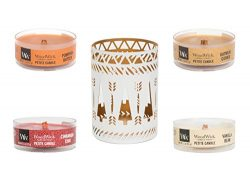 WoodWick Petite Candles, Scented Candle Gift Set, Set of 4 Assorted Fragrances with White Trees  ...
