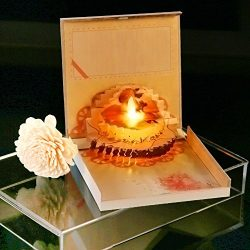 Eloer Mother's Day Pop Up Card, Happy Brithday Card,3D Flameless Candles Cake Card,Busines ...