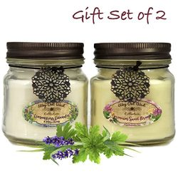 Way Out  West Aromatherapy Essential Oil Candles with Natural Geranium Sweet Orange and Lemongra ...