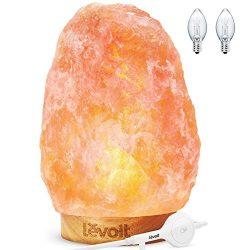Levoit Kana Himalayan Salt Lamp Natural Himilian Hymalain Pink Salt Rock Lamps(5-8 lbs,6.5-9R ...