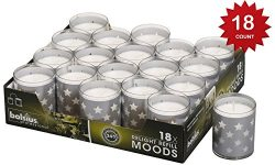 Bolsius Votive Candles – Set of 18 Restaurant and Relight Party Candle Holders –Votive Candles i ...
