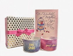 Mother's Day Gift Candles. Inspirational and Delicate Scented Candles Gift Set – 2 c ...