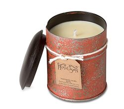 Himalayan Trading Post Burnt Orange Spice Tin Candle, Tobacco Bark, 10 oz