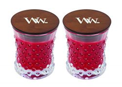 WoodWick Vintage Hobnail Candle Set – Crimson Berries