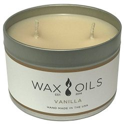 Wax and Oils (Vanilla 16 oz) Scented Soy Aromatherapy Candle
