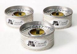 Natural Citronella Oil Mosquito Repellent Candles (Set of 3). Decorative Tin Can, for Outdoor Us ...