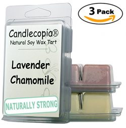 Candlecopia Petals of Spring, Moonlight Tuberose and Lavender Chamomile Strongly Scented Hand Po ...
