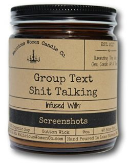 Malicious Women Candle Co – Group Text Shit Talking, Rebel Rose Infused with Screenshots,  ...