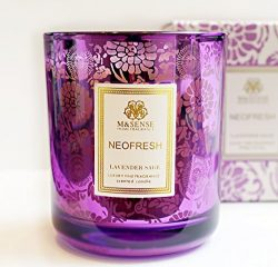 M&SENSE Luxury Lavender Candle with Sage | Large Organic Soy Jar Candle with Beautiful Gift  ...