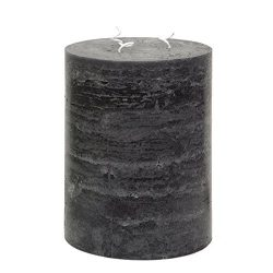 Black 3 Wick Pillar Candle 5×6″ – Unscented Multi Wick – Handcrafted by N ...