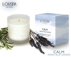LOVSPA 3 Day Sale! Natural Lavender Essential Oil Soy Candle | CALM by Blue Lavender, Clary Sage ...