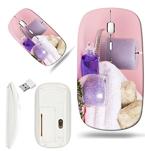 Luxlady Wireless Mouse White Base Travel 2.4G Wireless Mice with USB Receiver, 1000 DPI for note ...