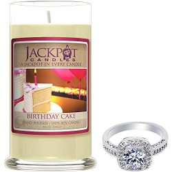 Birthday Cake Candle with Ring Inside (Surprise Jewelry Valued at $15 to $5,000) Ring Size 8