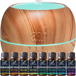 ArtNaturals Aromatherapy Essential Oil and Diffuser Gift Set – (150ml Tank & Top 8 Oil ...