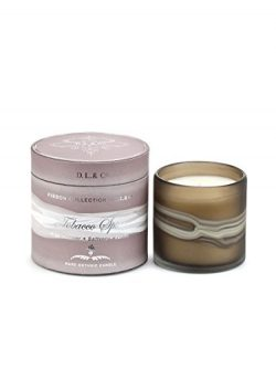 DL & Co. Ribbon Glass Collection 13 oz Candle (Tobacco Spice)