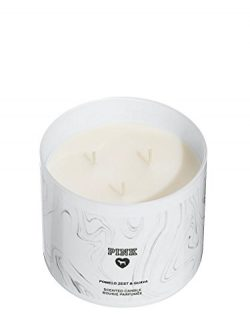 VICTORIA SECRET PINK – MARBLE BLACK AND WHITE 3 WICK CANDLE – POMELO ZEST & GUAV ...