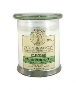 The Therapist Candles 655003976830 No. 01 Winter Pine Utopia Soy Candle, White