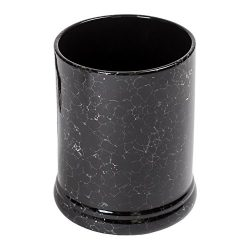 Elanze Designs Black Marble Ceramic Stoneware Electric Jar Candle Warmer