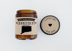 Connecticut Scented Candle Missing Home Homesick Gift Moving Gift New Home Gift No Place Like Ho ...