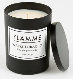 Flamme Candle Co. Signature Collection – Warm Tobacco Scent – Soy Wax Black Matte Ja ...