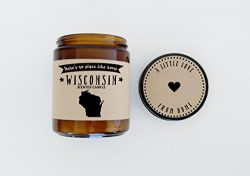 Wisconsin Scented Candle Missing Home Homesick Gift Moving Gift New Home Gift No Place Like Home ...