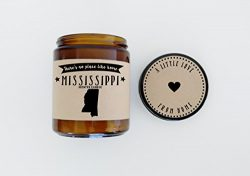 Mississippi Scented Candle Missing Home Homesick Gift Moving Gift New Home Gift No Place Like Ho ...