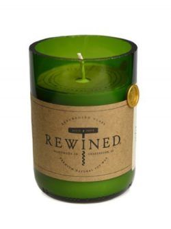 Recycled Wine Bottle 60-80 Hour Soy Wax Candle – Wine Under the Tree by Rewined