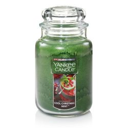 Yankee Candles Cool Christmas Mint Large Jar Candle,Fresh Scent
