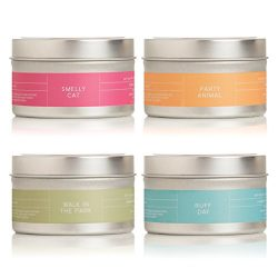 Pure + Good Natural Pet Care – Pet deodorizing Candles Variety Pack, Pack of 4