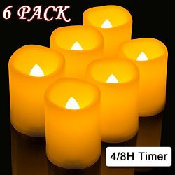 Raycare Flameless Votive Candles With 4H/8H Mode Timer, 500+ Hours Battery Operated Fake Candles ...