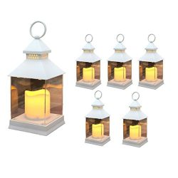 Just In Time for Spring {6 Pc Set} 10″ Decorative Lanterns With Flameless LED Lighted Cand ...