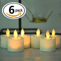 Flameless Tea lights Candles,Led Battery Operated Flicking Tealights Bluk In Warm White For Wedd ...