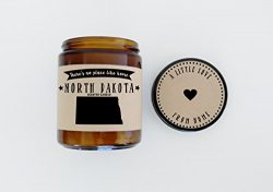 North Dakota Scented Candle Missing Home Homesick Gift Moving Gift New Home Gift No Place Like H ...