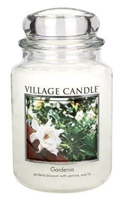 Village Candle Gardenia 26 oz Glass Jar Scented Candle, Large