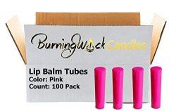 100 Empty Lip Balm Containers – Hot Pink Bulk Chapstick Tubes BPA Free – DIY Lipstic ...