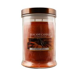 Langley Empire Candle Tuscany, Mottled, Bronze Lid, 18-Ounce, Pumpkin Spice