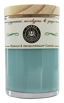 Terra Essential Scents – Massage & Aromatherapy Soy Candle Peppermint, Eucalyptus &amp ...