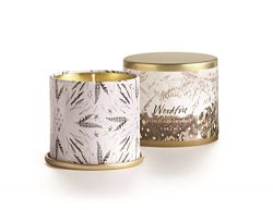 Illume Demi Vanity Tin Candle – Woodfire – 3 oz