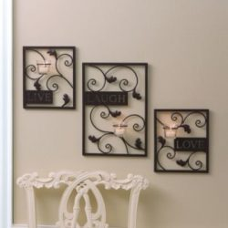 Essential Home Essence Live, Laugh, Love Wall Sconce Set (3 Piece)