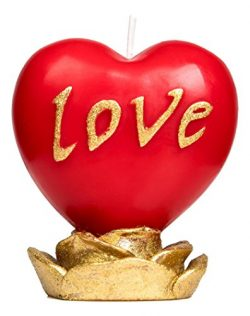 Best4youCreations Love Red Heart Candle – The Perfect Gift For Mothers Day Valentines Day  ...