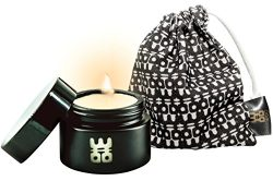 WOO Lucky Candle Collection | Handmade Eco Beeswax Aromatherapy Travel Candle | Organic Cotton B ...