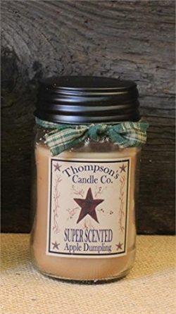 Thompson's Candle Co Apple Dumpling Mason Jar Candles