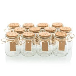 Glass Favor Jars With Cork Lids – Mason Jar Wedding Favors Apothecary Jars Honey Pot Bottl ...
