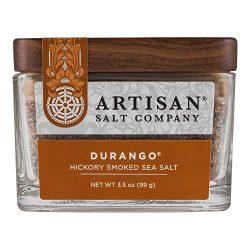 Durango Hickory Smoked Sea Salt, Boutique Glass Jar, 3.5 oz